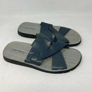 Robert Wayne leather slide sandals sz 10